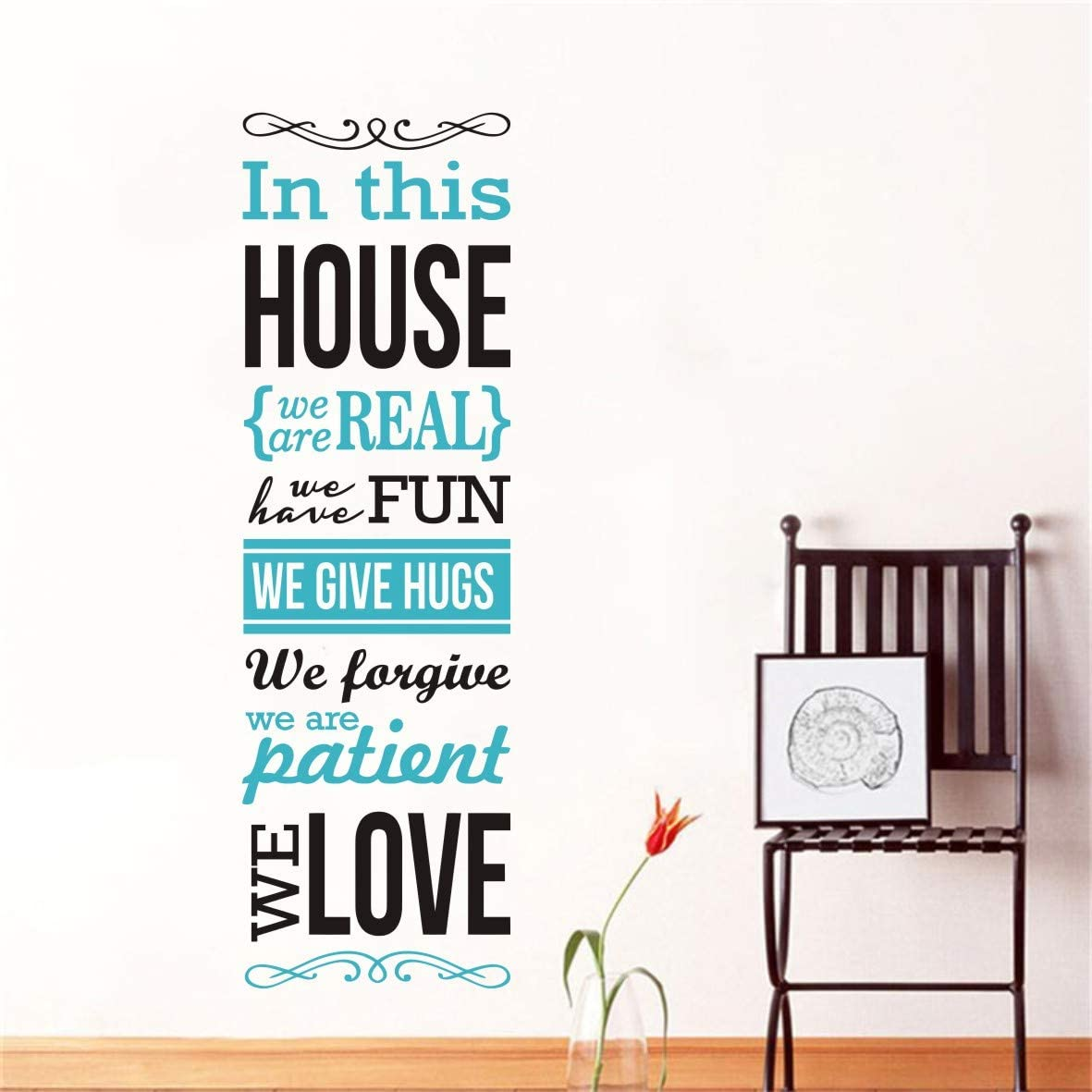 2 Color Mix Family Rules Quotes Wall Decal Saying Words House Rule Love Home Decor Wall Murals Art Living Room Decoration Stickers KW-305