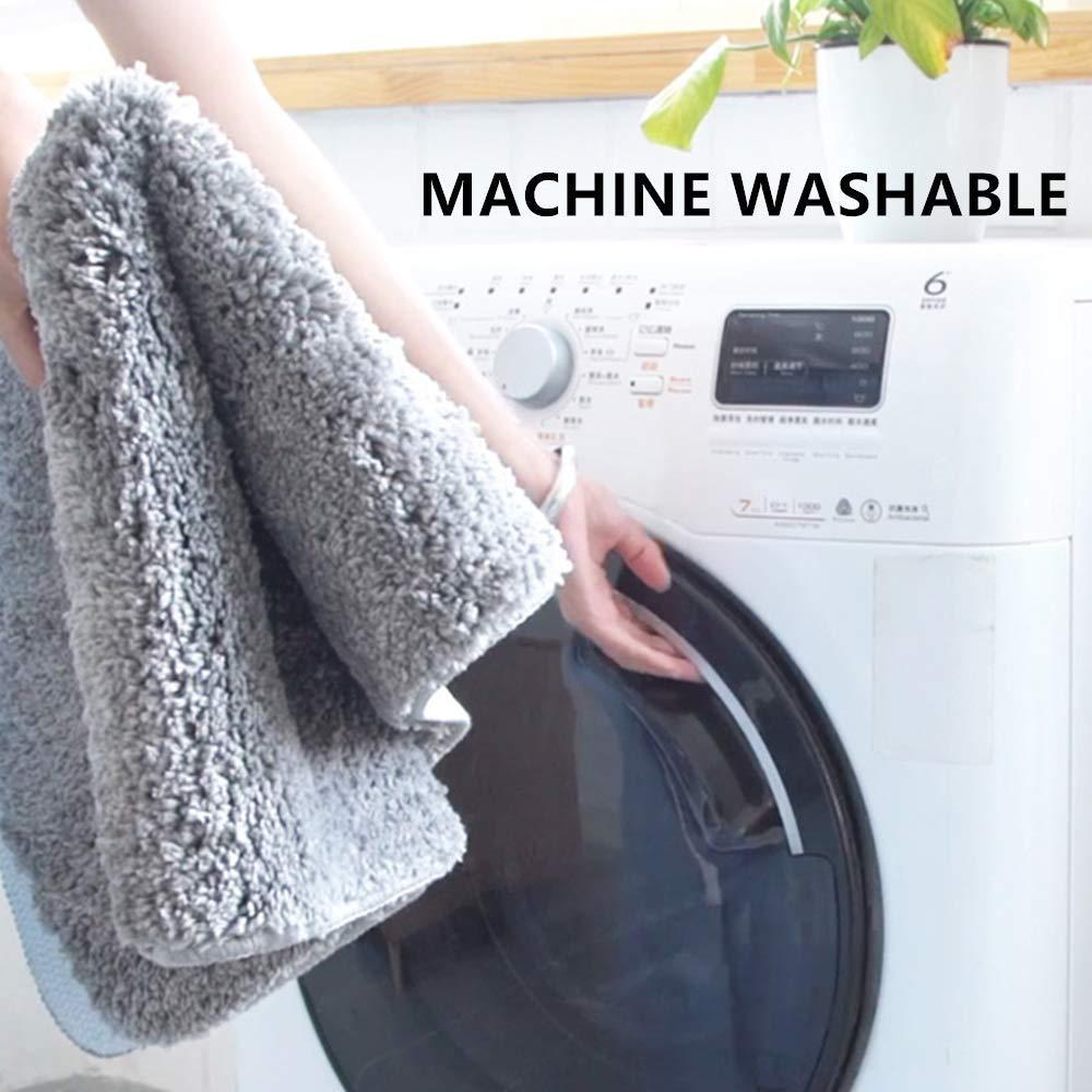 Lavabile in Lavatrice Tappeto da Bagno Assorbente Tappeti Bagno Antiscivolo Tappeto Bagno Moderno Tappeti da Bagno 30 x 50 cm Shaggy Morbido Beige