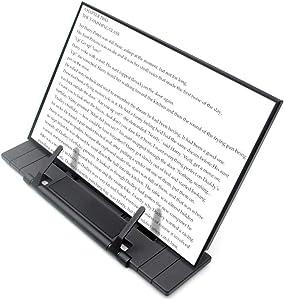Black Metal Desktop Document Book Holder with 7 Adjustable Positions (Black2)