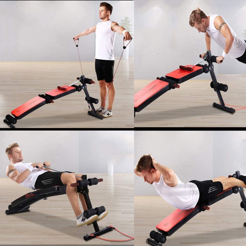 XQY Silla de ejercicios, Banco de abdominales ajustable con ...