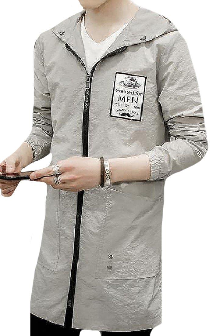 VITryst-Men Oversized Signature Zip-Front Light Weight Cardigan