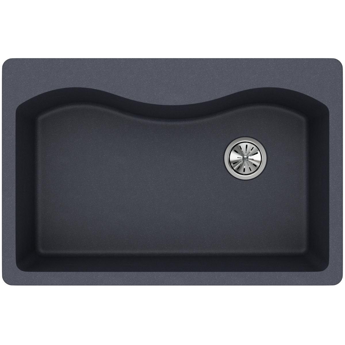 Elkay ELGS3322RGY0 Quartz Classic Single Bowl Drop-in Sink, Dusk Gray