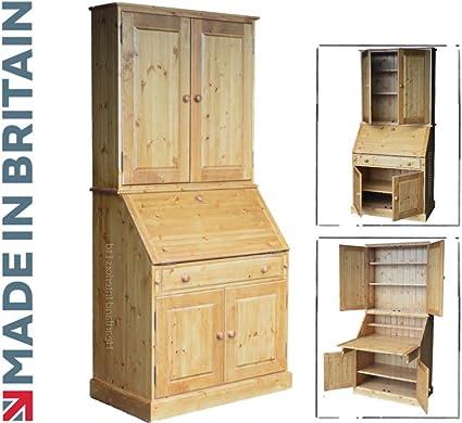 91,44 cm madera de pino maciza con gabinete secreter, hecha a mano ...