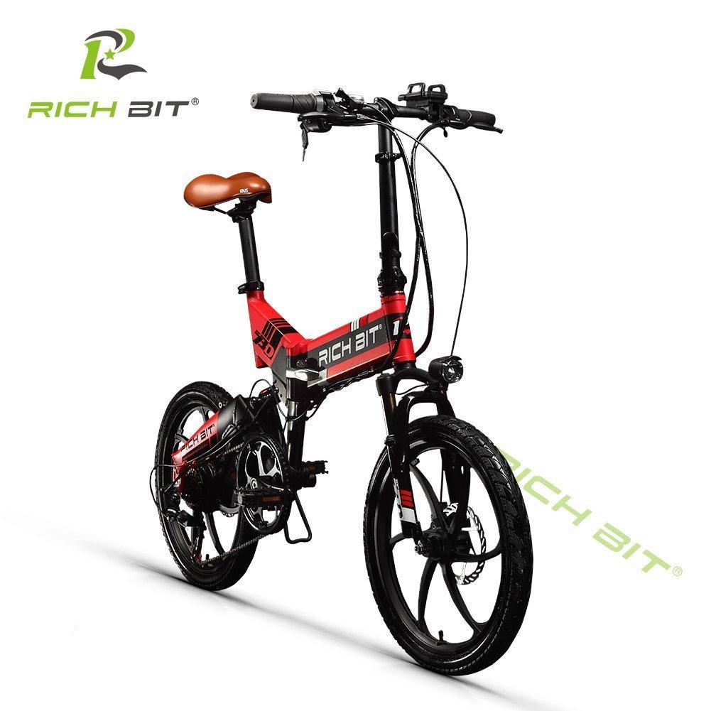 XHN復古型 20インチ 折りたたみ 電動自転車 復古型 シマノ7段変速 ペダルアシスト 三色 B079CGMT3Fレッド
