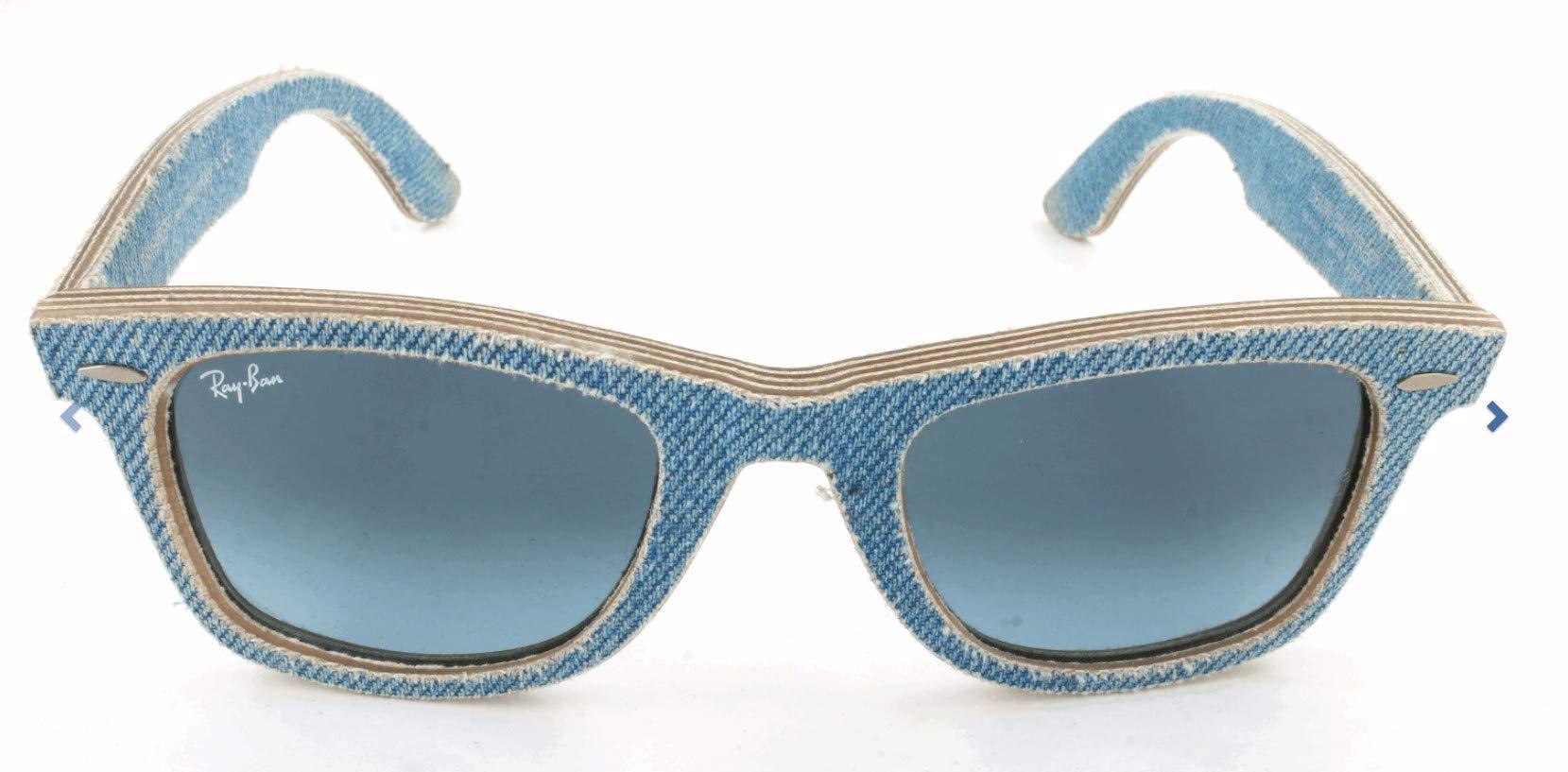 Ray-Ban RB2140 Wayfarer Sunglasses, Denim Light Blue, 50 mm