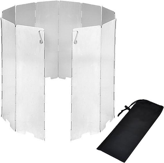 Parabrisas Plegable para Camping cocina estufa de gas escudo pantalla de viento Cortavientos al aire libre