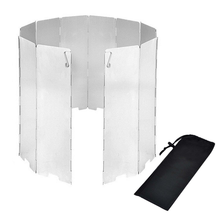 Parabrisas Plegable para Camping cocina estufa de gas escudo pantalla de viento Cortavientos al aire libre Migavan