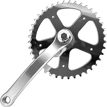 Piñones y bielas, entrada BMX fija, 165 mm, 40 dientes, bicicleta: Amazon.es: Coche y moto