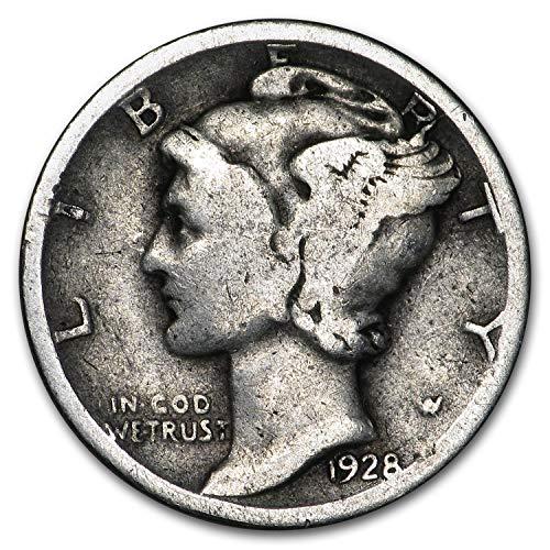 1928 Mercury Dime Good/VF Dime Very Fine