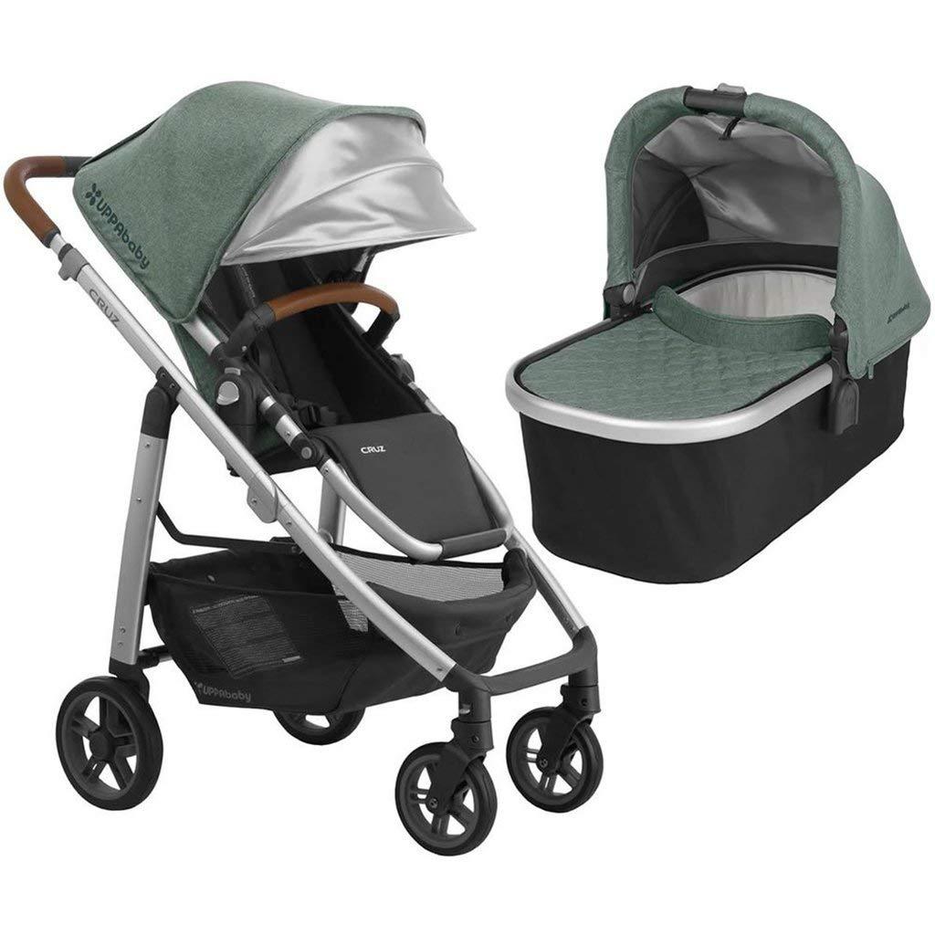 UPPAbaby Full-Size Cruz Infant Baby Stroller & Bassinet Bundle (Emmett) by UPPAbaby