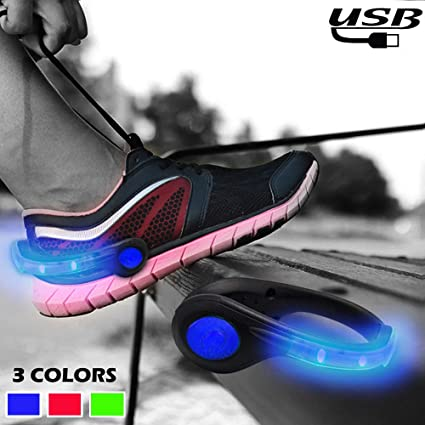 5 Pairs x LED  Light Shoe Clip for Running //Cycling//Jogging Night Outdoor Sports