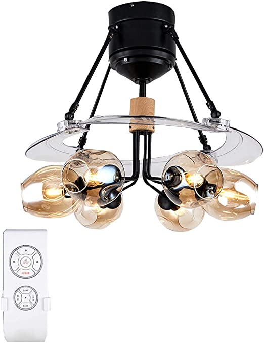 YX Ceiling Fans Lámpara LED regulable con luz de ventilador de ...