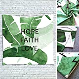 Howarmer Green Banana Leaves with Quotes Hope Faith Love by Tapestry Wall Hanging 100% Polyester (60'' X 80'', GTAZ0096)
