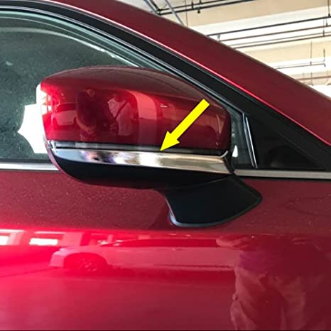 beautost ajuste para Mazda 2017 2018 Nueva CX-5 CX5 cromo espejo retrovisor lateral Moldura