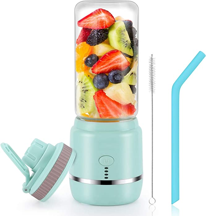 Portable Blender, Personal Blender, Mini Juicer Cup USB Rechargeable and Personal Size Blender Smoothies akes,401ml,Fruit Juice, Mixer