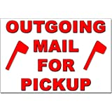 Outgoing Mail for Pickup Magnet - 4x6 Heavy Duty 55 Mil Magnet