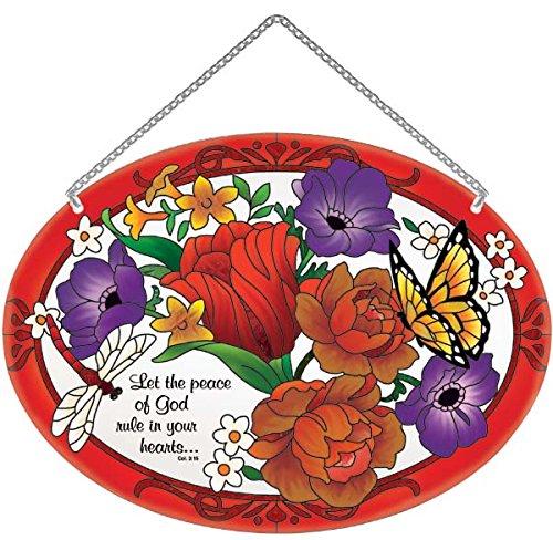 - Suncatcher-LO199R-Jewel Bouquet/Let the peace of God