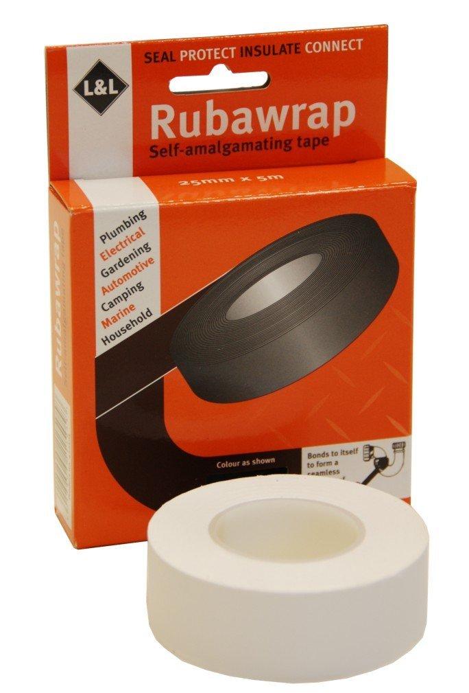 L&L 422605 Self Amalgamating Tape, White Rubawrap
