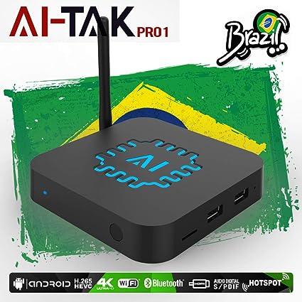 2019 B Box AI-TAK PRO 4K Ultra HD grátis para Sempre Edition TEM mais de 300 canais de TV, 100 canais adultos 30mil filmes 20mil série UHD e Bluetooth, ...