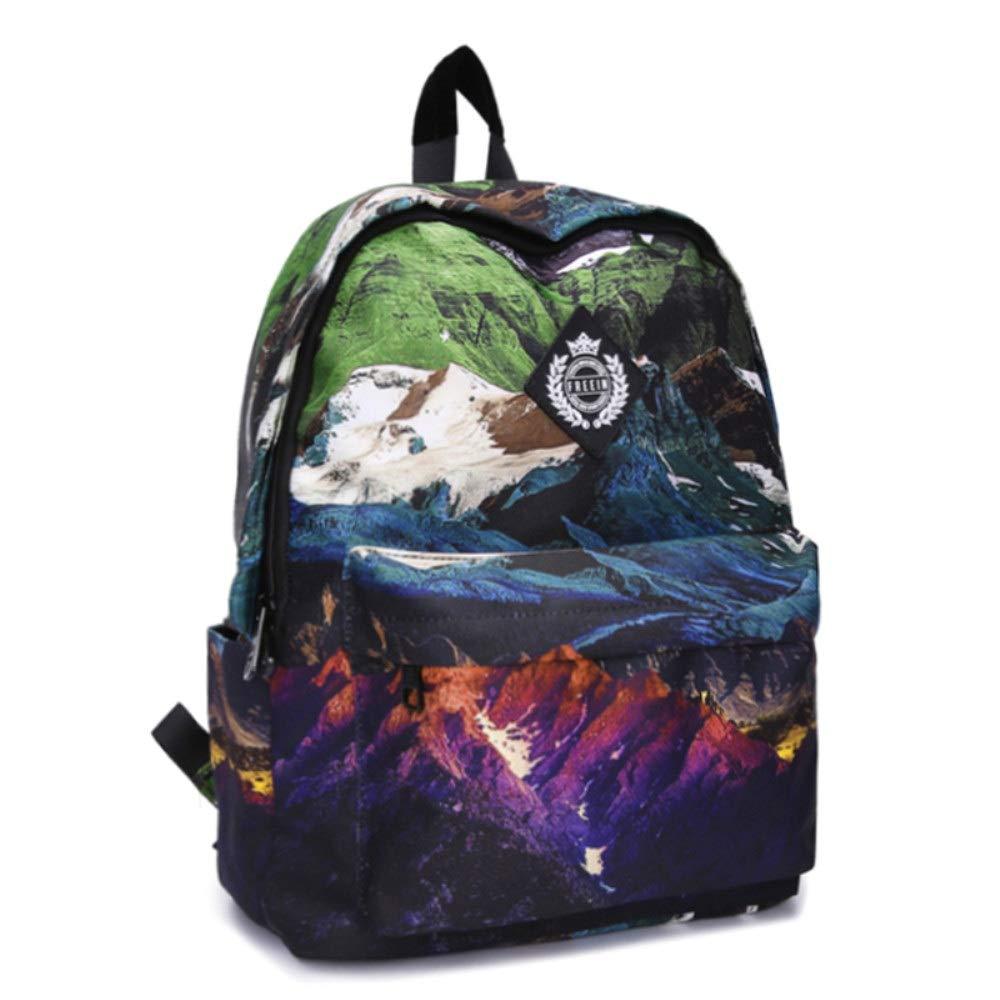 Color : B Printed Backpack Leisure Travel Men and Women Backpack 24L Backpack 43cm13cm