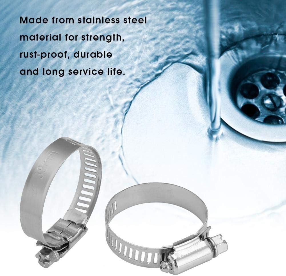 35-51mm//1.4-2inch 20pcs Morsetto a fascetta regolabile in acciaio inox Linea di alimentazione a vite senza fine