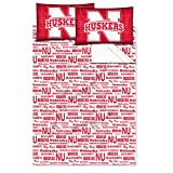 NCAA Nebraska Cornhuskers OFFICIAL College Full Sheet Set - Anthem Series