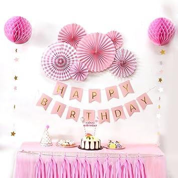 Sunbeauty Geburtstag Party Deko Rosetten Birthday Girlande