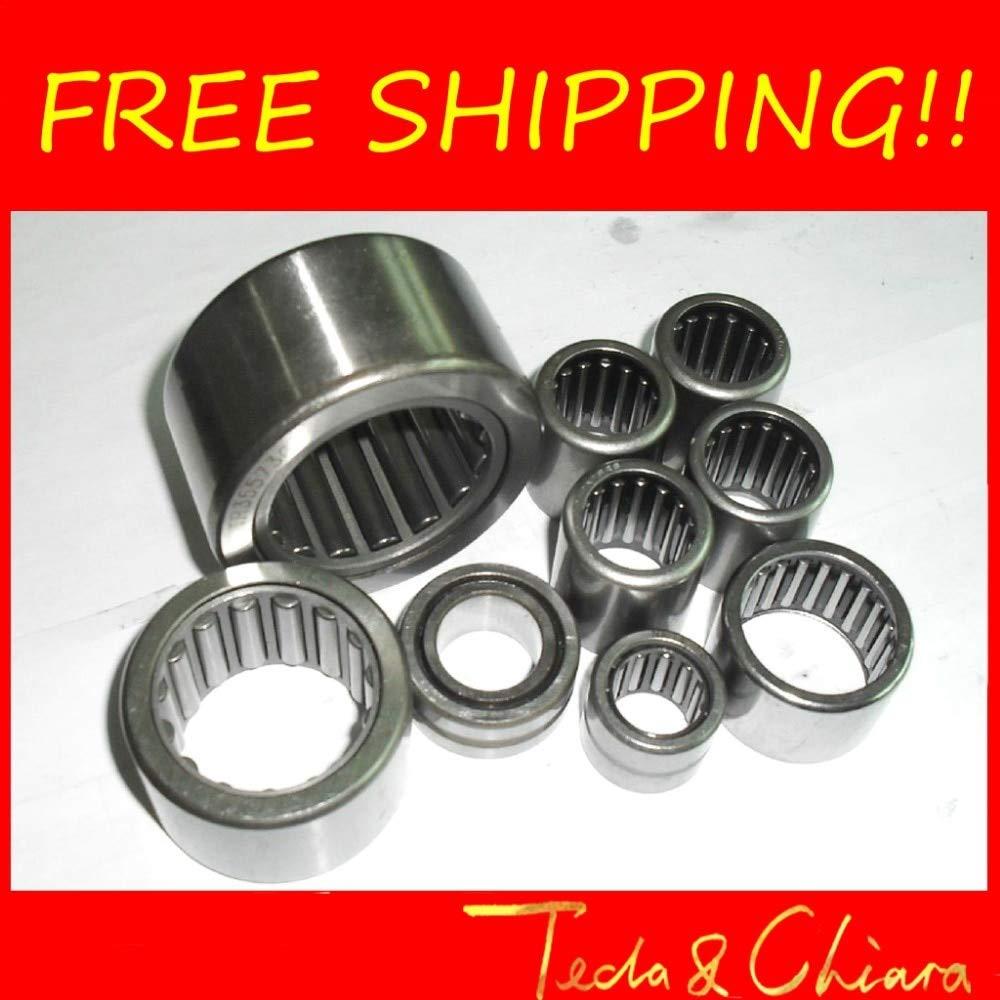 Ochoos HK152020 HK152122 HK162220 HK1522 HK1620 Drawn Cup Type Needle Roller Bearing 15x20x20 15x21x22 16x22x20 mm Length: HK162220 HK1620, Diameter: 10Pcs