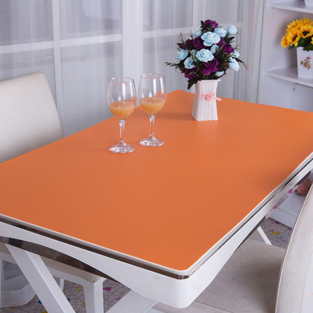ラウンドテーブルクロス PVCテーブルクロス、デスクマットオフィスマットコンピュータテーブルマットビジネスケースデスクマットオペレーターステーション3.5mmテーブルクロス テーブルクロス ( 色 : オレンジ , サイズ さいず : 100*100cm ) 100*100cm オレンジ B0747RX31G