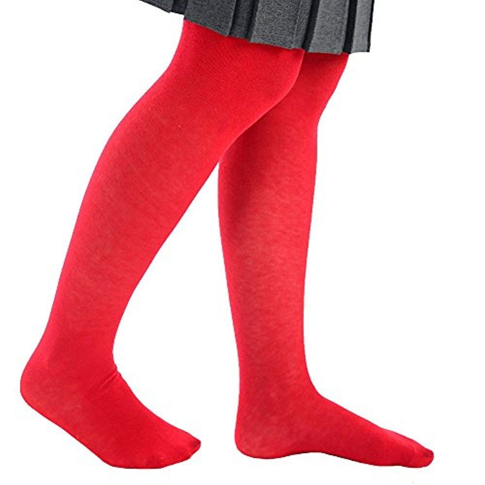 Girls School Uniform Footed Nifty Cotton Tights in Different Colours - Ages newborn - 1-13 adam & essa