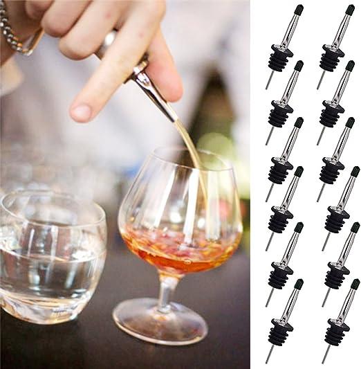 12Pcs Bottle Pourers Spout Set Leak-proof Liquor Flow Wine Olive Oil Dispenser