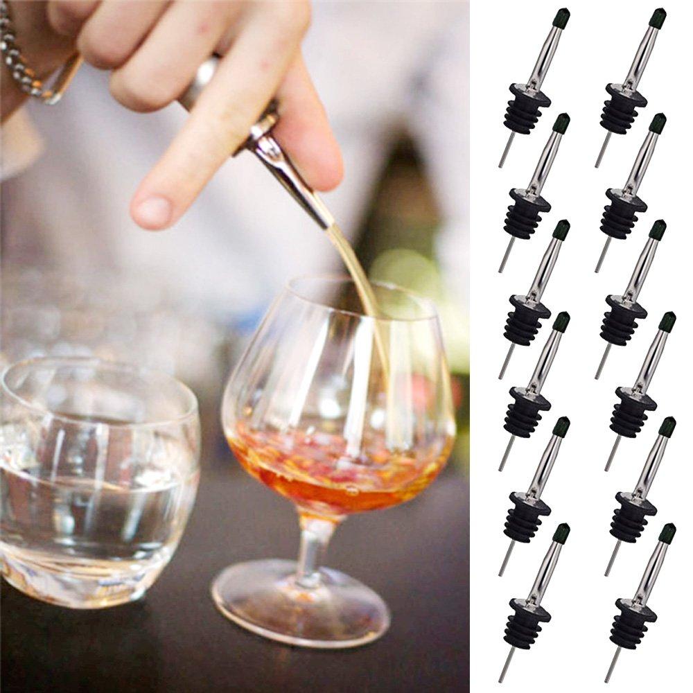全国宅配無料 Kangkang Kangkang @ 12個ステンレススチールフローWhisky Liquor Liquor Drinksワインオイルボトルディスペンサー注ぎ口Pourer @ withダストキャップバーツールガジェット B075R59THS, クロネコ書店:1c92b53e --- a0267596.xsph.ru