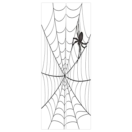 Amazon Com 3d Door Wall Mural Wallpaper Stickers Spider Web