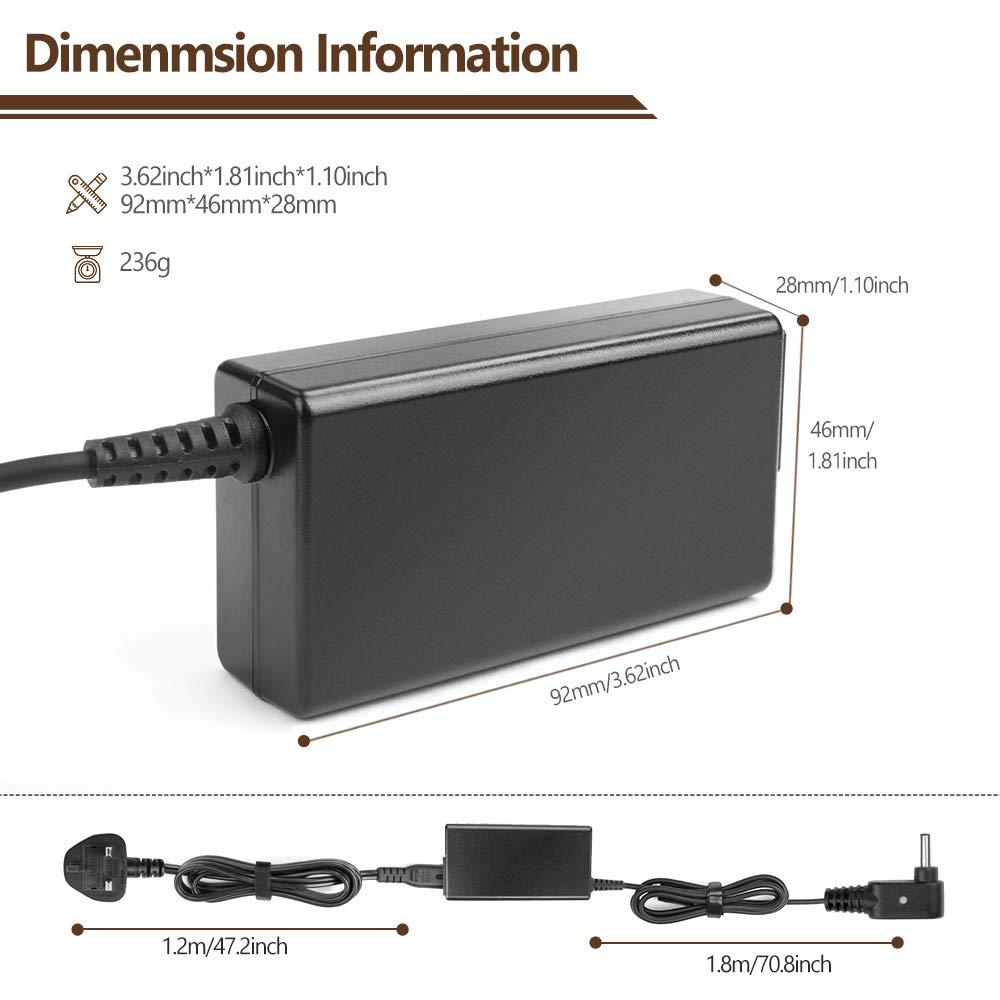 Ultrabook,ASUS 15.6 X551MAV-EB01-B X550L X550LA-XH51 X551 X550 X552 X501 Adaptador TAIFU 65W 19V 3,42A Cargador Portatil Asus VivoBook S500CA S500C S550CA S300 S400 Toshiba Satellite C5 Q500 Q400 Q300 Q301LA,V551LA V550 V500 V400CA,R500 R503U F500 F502C