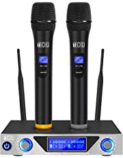 TONOR VHF Handheld Wireless Microphone System with Dual Hand Held Dynamic Microphones and LED Display for Karaoke Party Classroom Meeting