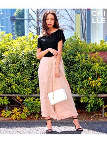ANAP(アナップ)【CHILLE】ヴィンテージサテン刺繍パンツ