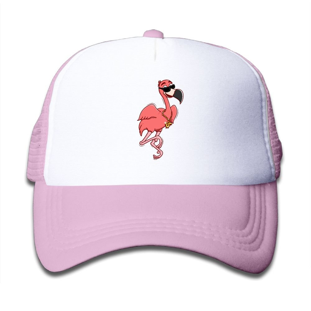 Kkidj Ooii Mesh Baseball Cap Mens&Girls Youth Snapback Hat Cool Flamingo With Sunglasses
