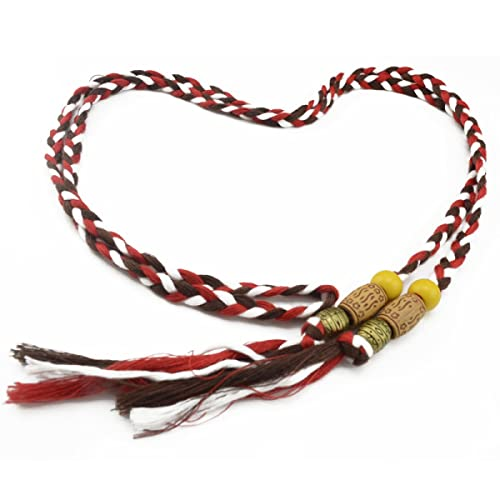 La Sra Trenzado Cuerda De La Cintura Cinturones Delgados Las Borlas De La Cinta Colgante Pequeño Arc...