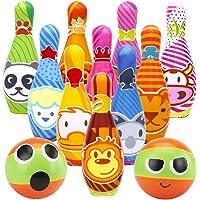 VGEBY1 Toy Bowling Set Bunte Bowlingkugel Spielzeug Kinder Bowling Spiel Set Spiel Spielzeug Set Spielzeug Geschenke