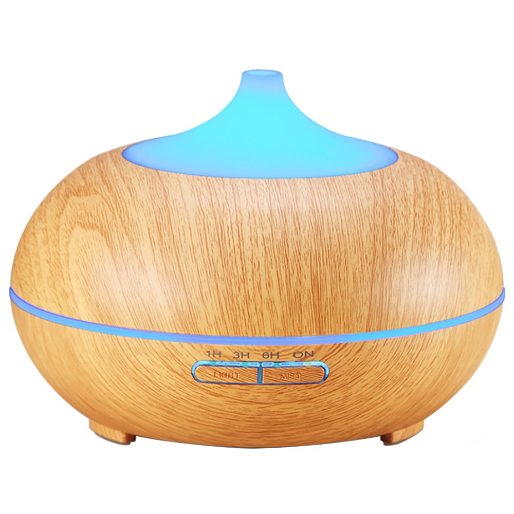 AMIR 100ml Essential Oil Diffuser, Portable Ultrasonic Aroma Oil Diffuser, Cool Mist Air Humidifier with 7 Color LED Lamp Changing & Timer Settings, Waterless Auto Shut-off, for Home, Yoga, Office, Spa, Bedroom, Baby Room, Table HM1US