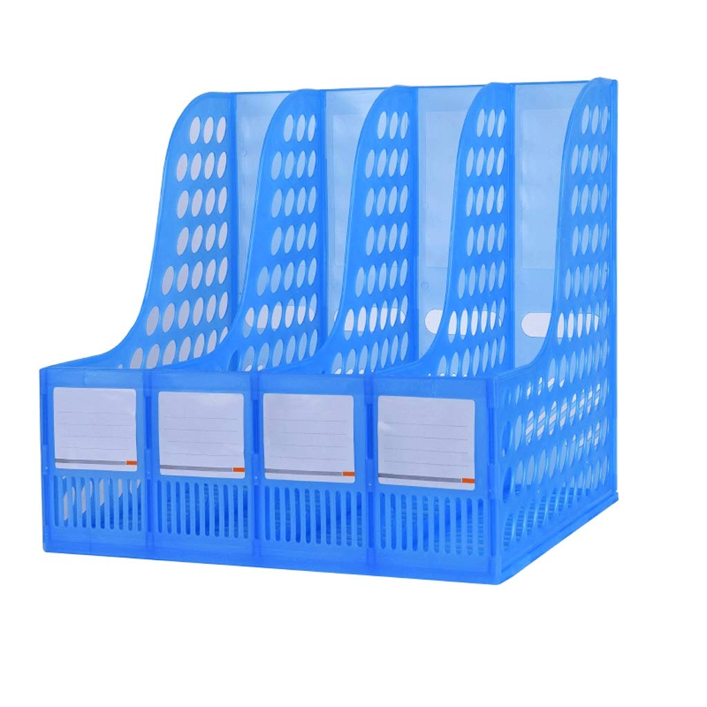 WXH-File Holder Soporte de de Archivo Carpeta de Soporte Almacenamiento de Carpeta Escritorio de Almacenamiento de Datos Estante de Carpeta (Tamaño : L24cm) 15d9e4