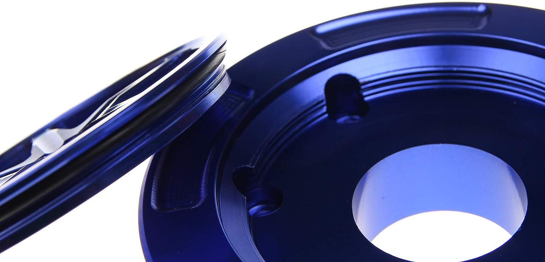 TARAZON Moto Tap/ón del tanque de combustible sin llave para Yamaha YZF R6 03-15 YZF R1 00-14 FJR1300 03-14 Azul