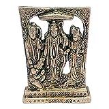 ART N HUB Brass Antique Look Hindu God Shri Ram Darbar Statue Lord Rama Sita Laxman And Hanuman Darbaar Idol Handicraft Spiritual Puja Vastu Showpiece Figurine