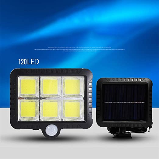 DMH Split Foco Solar Exterior, Luz Solar Jardín 120 LED, IP65Impermeable Proporcionar hasta,con Sensor de Movimiento para Jardín, Patio, Garaje, Camino, 2 Piezas: Amazon.es: Hogar