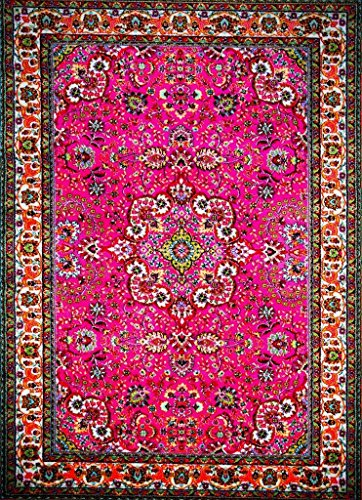 Persian-Rugs 10015 Pink 5'2x7'2 Area Rug Carpet Large New -