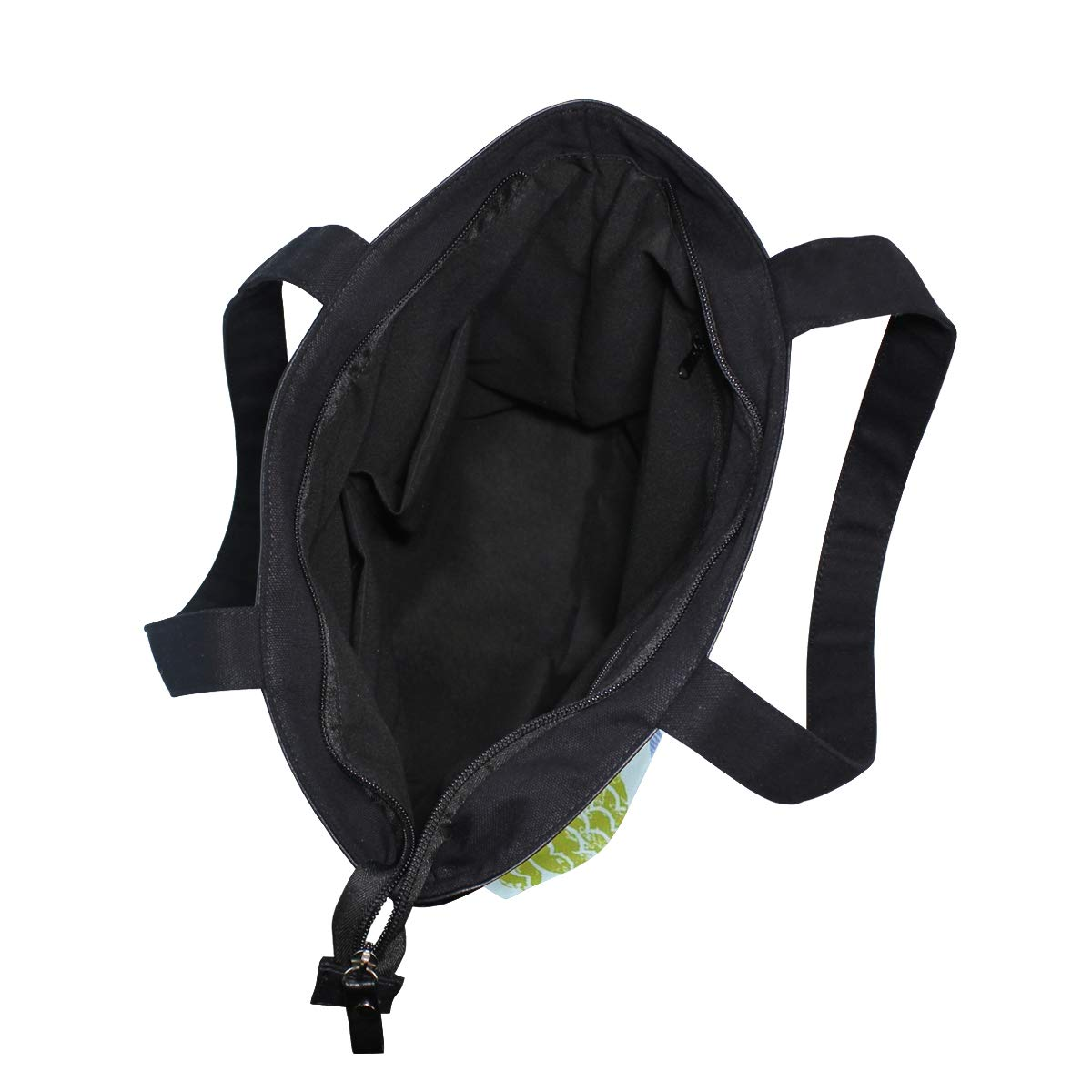 Women Large Tote Top Handle Shoulder Bags Nautical Fish Allover Light Blue Satchel Handbag