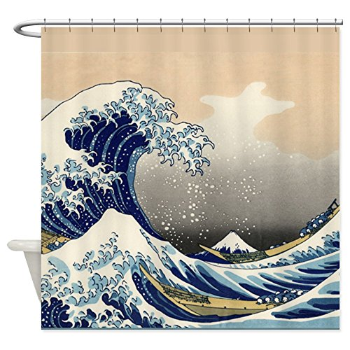 CafePress Japanese Tsunami Curtain Decorative
