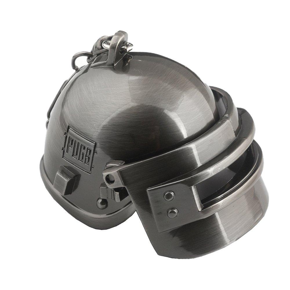 iVooVoo MiNi PUBG - Llavero de metal con diseño de la batalla de supervivencia, Helmet(silver), Helmet