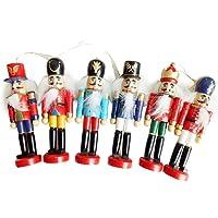 IrahdBowen Decoraciones de Navidad Cascanueces Marioneta de Madera