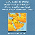 Ceo Guide To Doing Business In Middle East: United Arab Emirates, Saudi Arabia, Kuwait, Bahrain And Qatar Audiobook by Ade Asefeso, MCIPS, MBA Narrated by Susan Lee